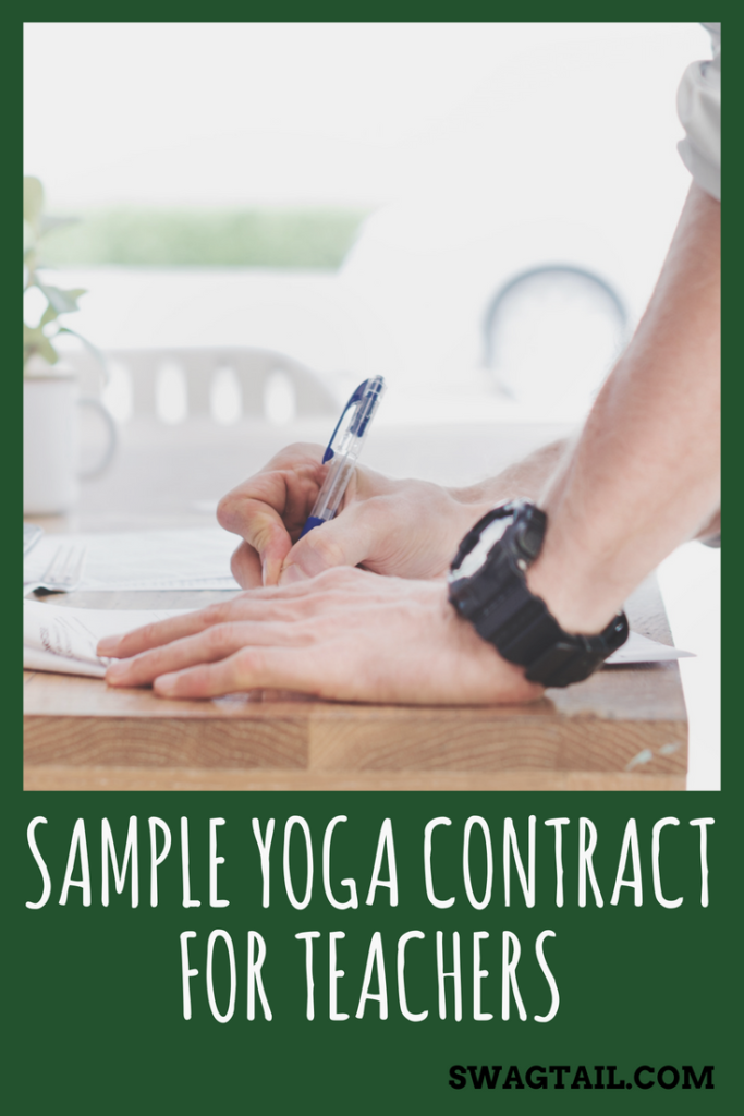 Sample Yoga Contract For Teachers Swagtail